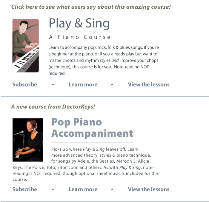 DoctorKeys Piano Video Courses Home